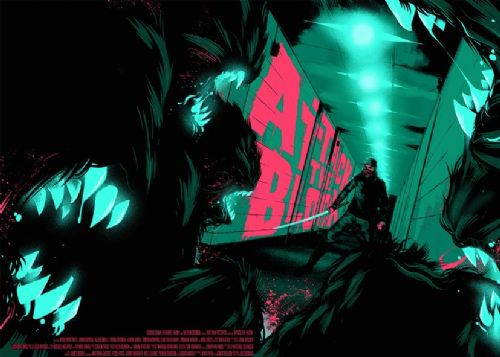2010's Movie - ATTACK THE BLOCK - CREATURES LS1 / canvas print - self adhesive poster - photo print